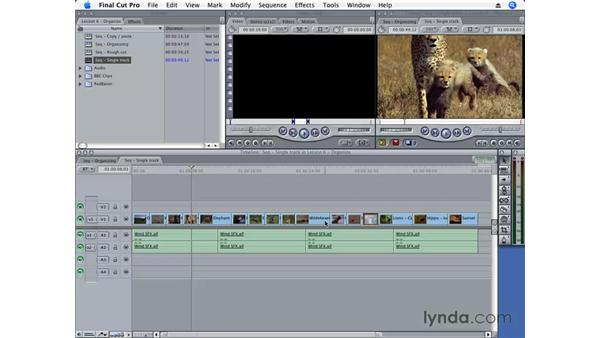 Moving clips: Final Cut Pro 6 Essential Editing