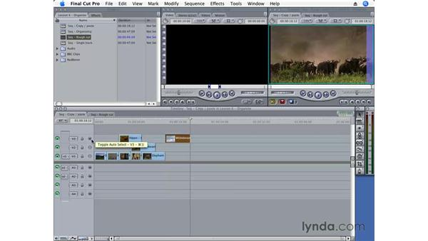 Copying clips: Final Cut Pro 6 Essential Editing