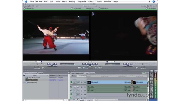 The Trim Edit window: Final Cut Pro 6 Essential Editing