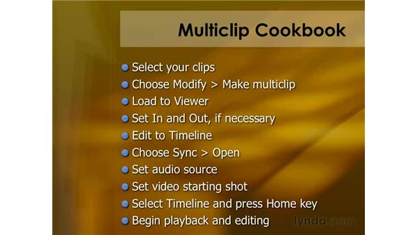Multiclip editing: Final Cut Pro 6 Essential Editing