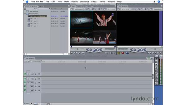 Creating a multiclip: Final Cut Pro 6 Essential Editing
