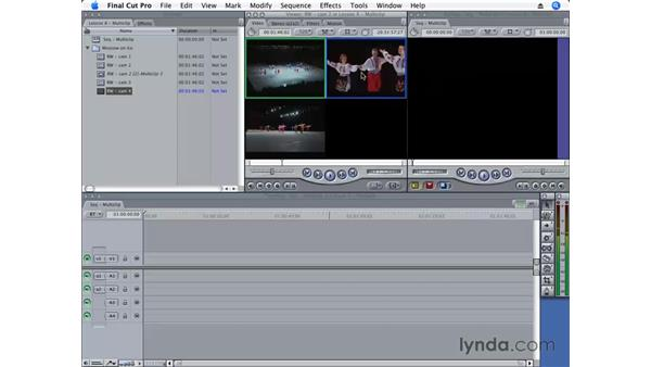 Changing a multiclip: Final Cut Pro 6 Essential Editing