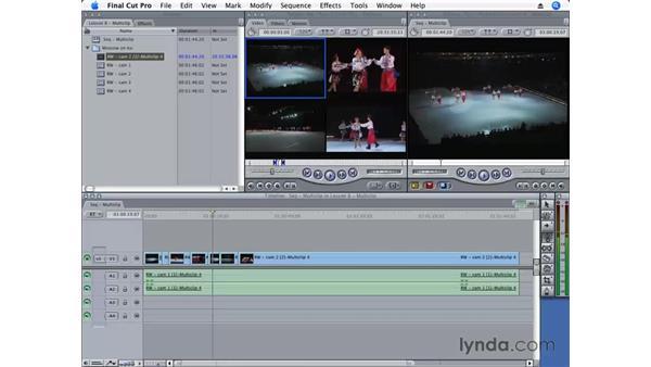 Editing a multiclip: Final Cut Pro 6 Essential Editing
