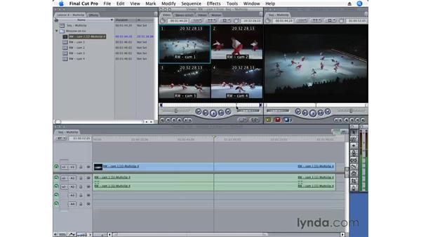 Collapsing and uncollapsing multiclips: Final Cut Pro 6 Essential Editing