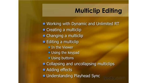 Keyboard shortcuts for multiclips: Final Cut Pro 6 Essential Editing