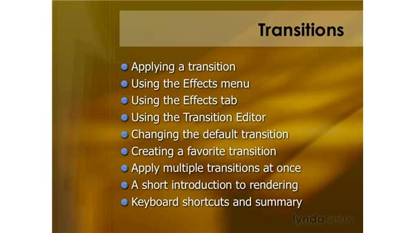 Using transitions: Final Cut Pro 6 Essential Editing