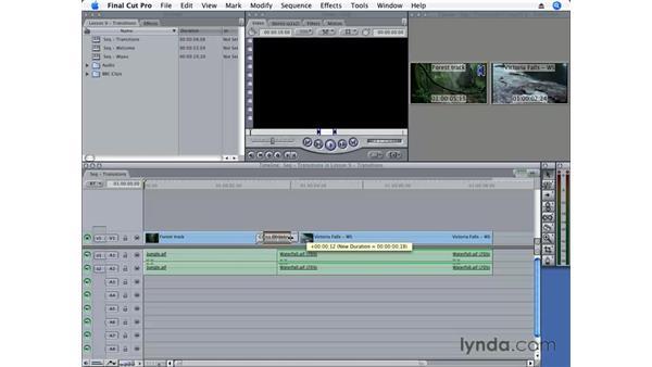 Applying a transition: Final Cut Pro 6 Essential Editing