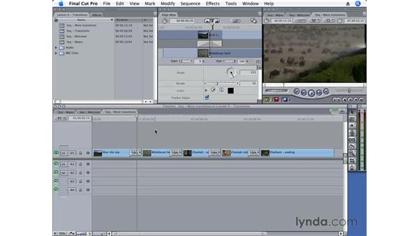 Using the Effects tab: Final Cut Pro 6 Essential Editing