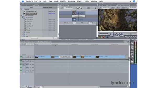 Creating a favorite transition: Final Cut Pro 6 Essential Editing
