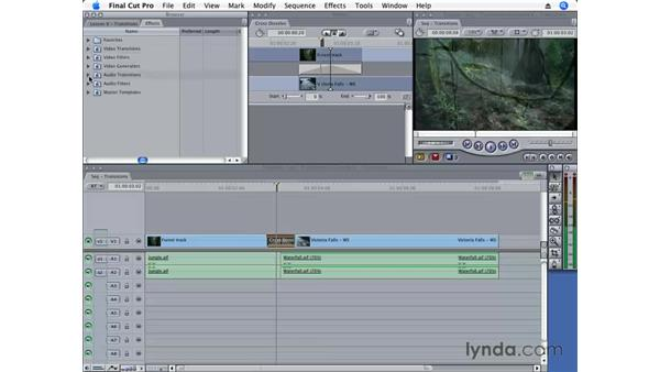 Changing the default transition: Final Cut Pro 6 Essential Editing