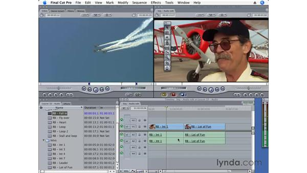 Editing audio and video: Final Cut Pro 6 Essential Editing