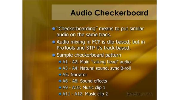 Checkerboarding your audio: Final Cut Pro 6 Essential Editing