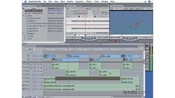 Mixing audio in Final Cut Pro: Final Cut Pro 6 Essential Editing