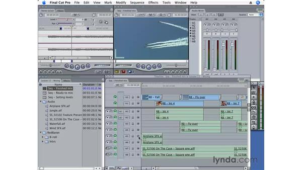 Using the Audio Mixer: Final Cut Pro 6 Essential Editing