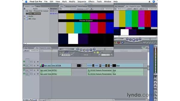 Editing to tape: Final Cut Pro 6 Essential Editing