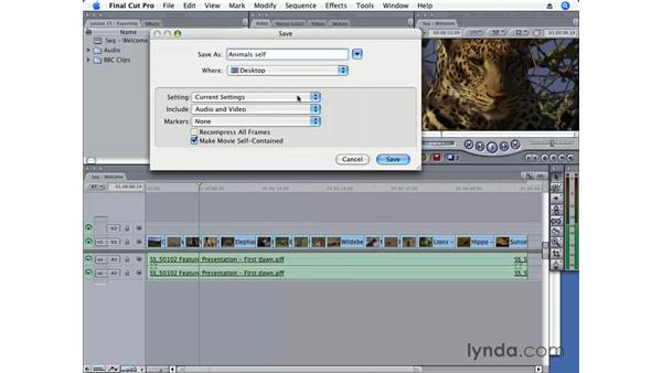 Exporting a QuickTime movie: Final Cut Pro 6 Essential Editing
