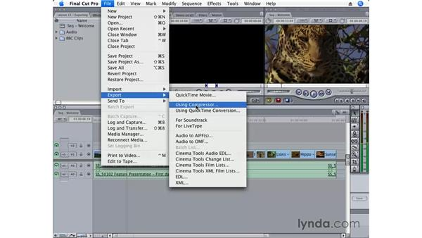 Exporting for Compressor: Final Cut Pro 6 Essential Editing