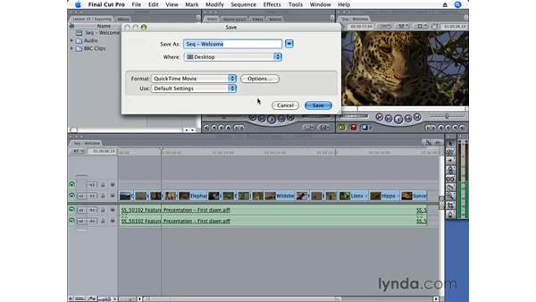 Exporting for QuickTime conversion: Final Cut Pro 6 Essential Editing
