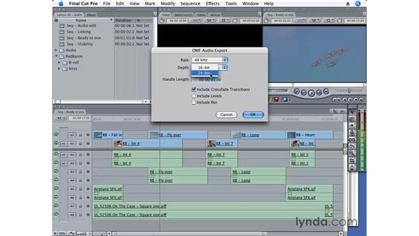 Exporting as AIFF and OMF: Final Cut Pro 6 Essential Editing