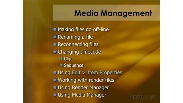 Media management: Final Cut Pro 6 Essential Editing