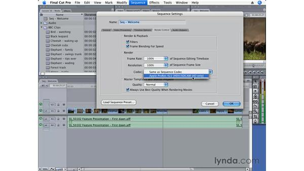 Working with render files: Final Cut Pro 6 Essential Editing