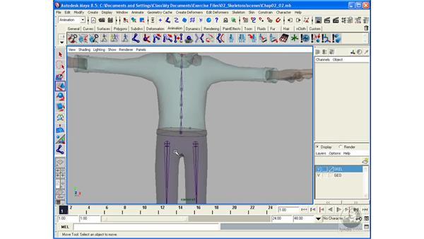 Creating a skeleton pt. 2: Spine: Maya 8.5 Character Rigging