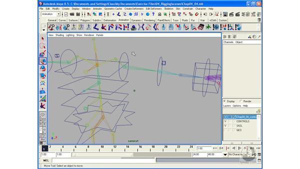 Rigging arms for forward kinematics: Maya 8.5 Character Rigging