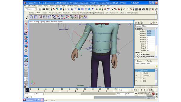 Manipulating the rig: Maya 8.5 Character Rigging
