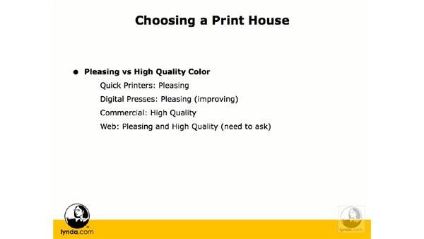 Making print house choices: InDesign CS3 Prepress Essentials