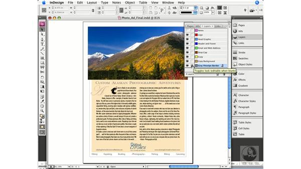 Working in layers: InDesign CS3 Prepress Essentials
