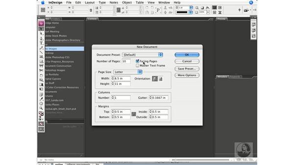 Assigning document dimensions and margins: InDesign CS3 Prepress Essentials