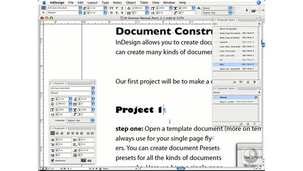 Using and editing style sheets: InDesign CS3 Prepress Essentials