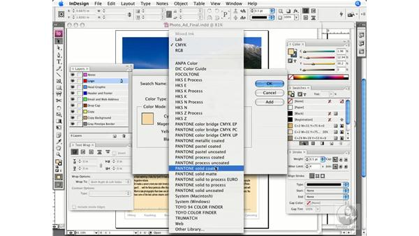 Assigning spot colors: InDesign CS3 Prepress Essentials