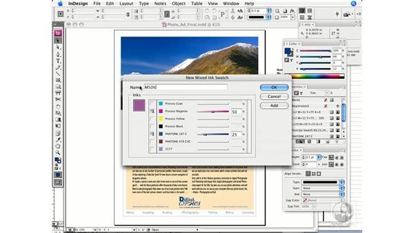 Mixed ink colors: InDesign CS3 Prepress Essentials