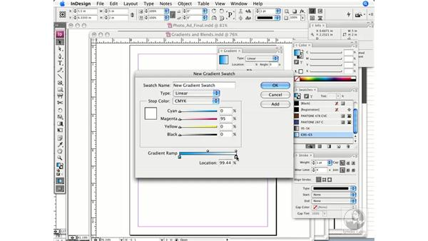 Creating printable gradients and blends: InDesign CS3 Prepress Essentials