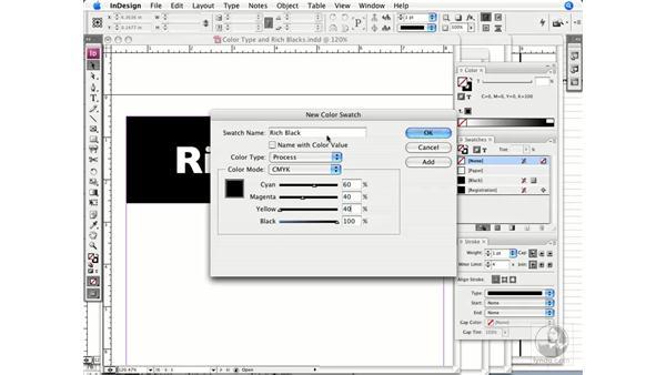 Rich blacks: InDesign CS3 Prepress Essentials