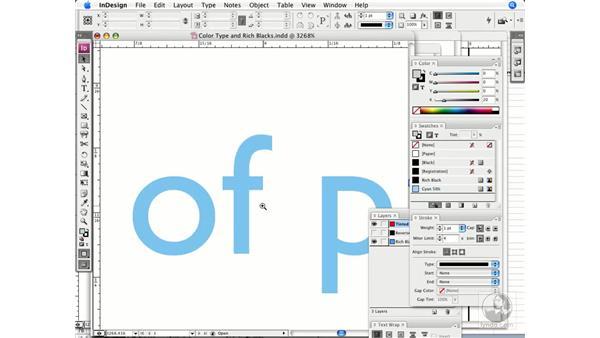 Type and color: InDesign CS3 Prepress Essentials