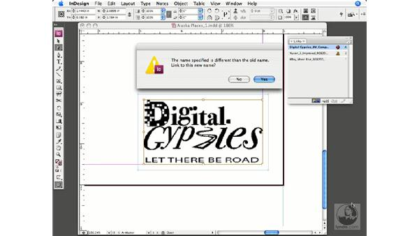 Checking and updating linked graphics: InDesign CS3 Prepress Essentials
