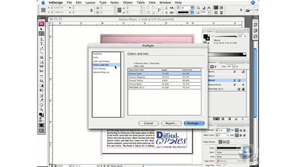 Checking and reassigning colors: InDesign CS3 Prepress Essentials