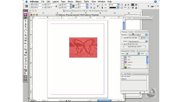 Using Flattener Preview: InDesign CS3 Prepress Essentials