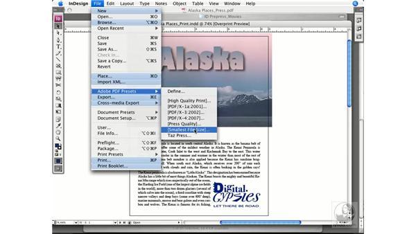 Exporting to PDF: InDesign CS3 Prepress Essentials