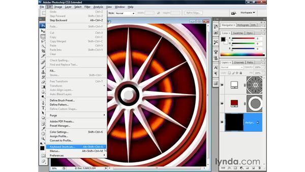 Loading the dekeKeys shortcuts: Photoshop CS3 Channels and Masks: The Essentials