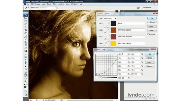 Editing a quadtone: Photoshop CS3 Channels and Masks: The Essentials