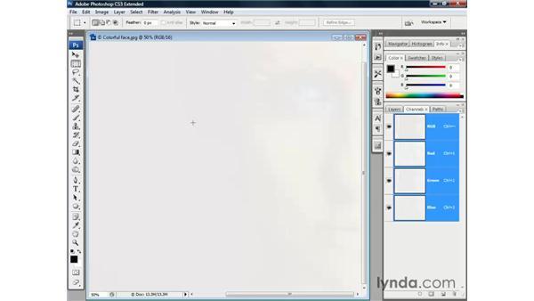 16-bit advantages: Photoshop CS3 Channels and Masks: The Essentials