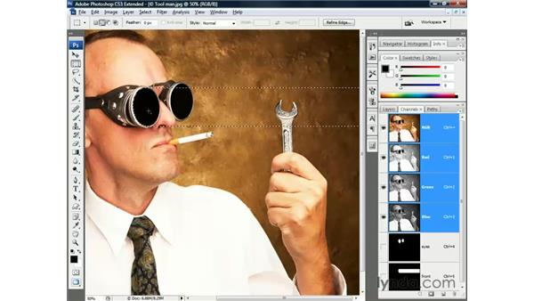 Using the new channel icons: Photoshop CS3 Channels and Masks: The Essentials