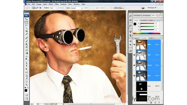 Loading an alpha channel: Photoshop CS3 Channels and Masks: The Essentials