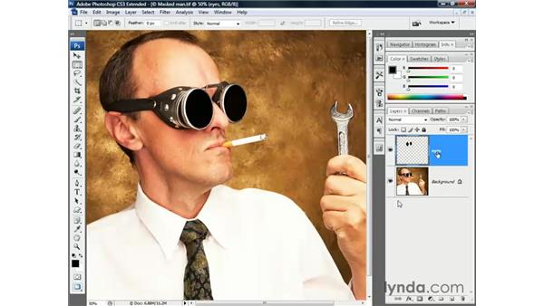 Putting a mask into play: Photoshop CS3 Channels and Masks: The Essentials