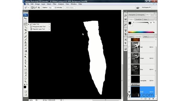 Viewing a mask as a rubylith overlay: Photoshop CS3 Channels and Masks: The Essentials