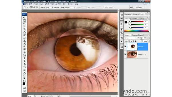 Promoting a floater to a layer: Photoshop CS3 Channels and Masks: The Essentials