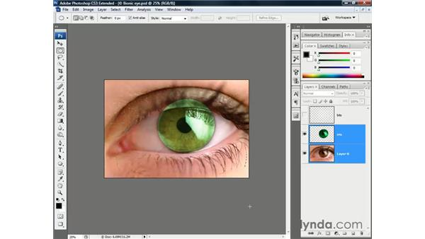 Nudging and aligning: Photoshop CS3 Channels and Masks: The Essentials